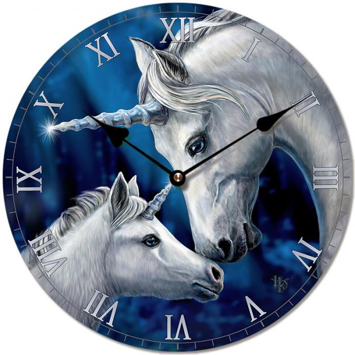 Horloge Licorne Amour Sacré (par Lisa Parker)