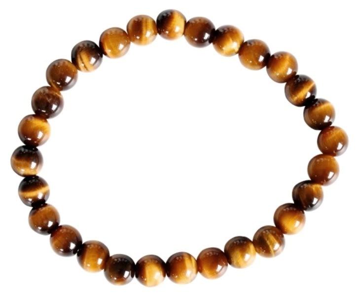 Bracelet Oeil de Tigre Perles Rondes (6 mm)
