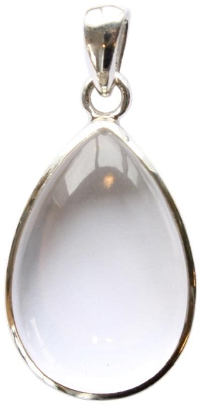 Pendentif Cristal de Roche Goutte (GM)