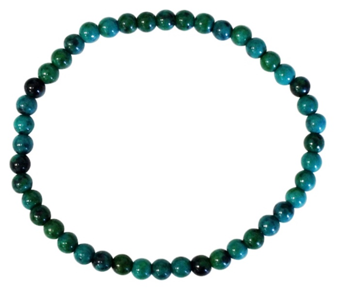 Bracelet Chrysocolle Perles Rondes (4 mm)