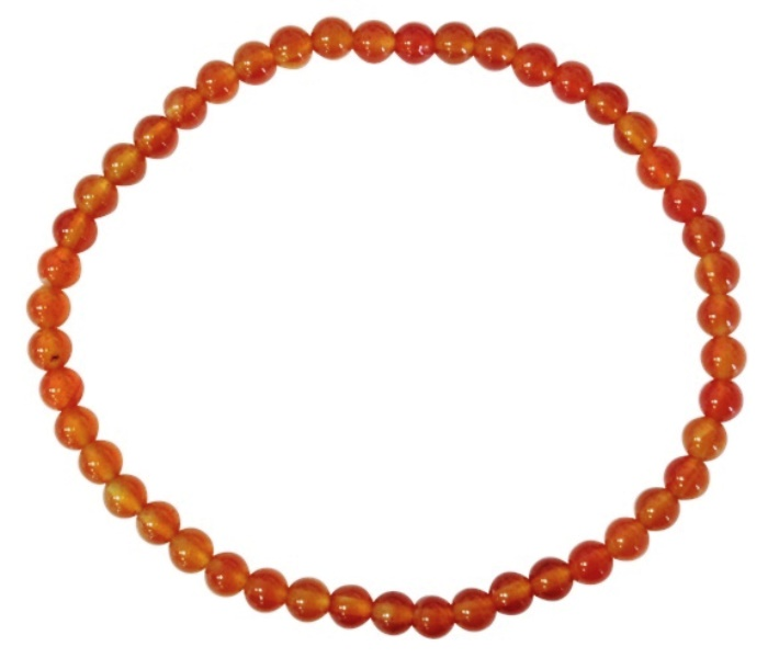 Bracelet Cornaline Perles Rondes (4 mm)