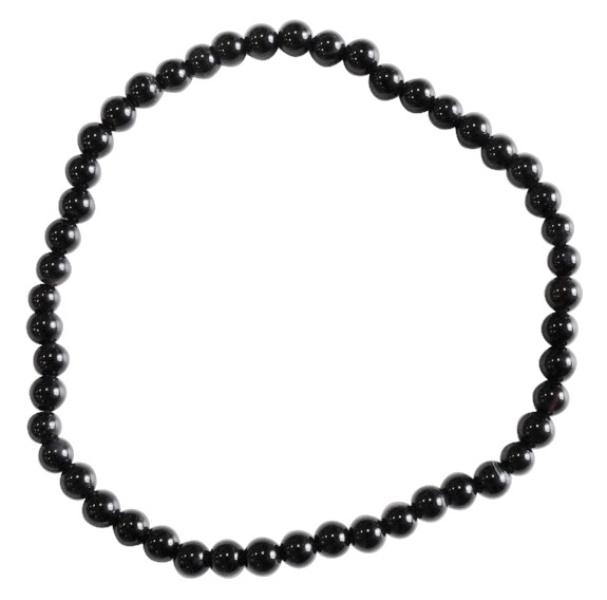 Bracelet Onyx Perles Rondes (4 mm)