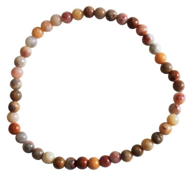 Bracelet Agate Crazy lace Perles Rondes (4 mm)