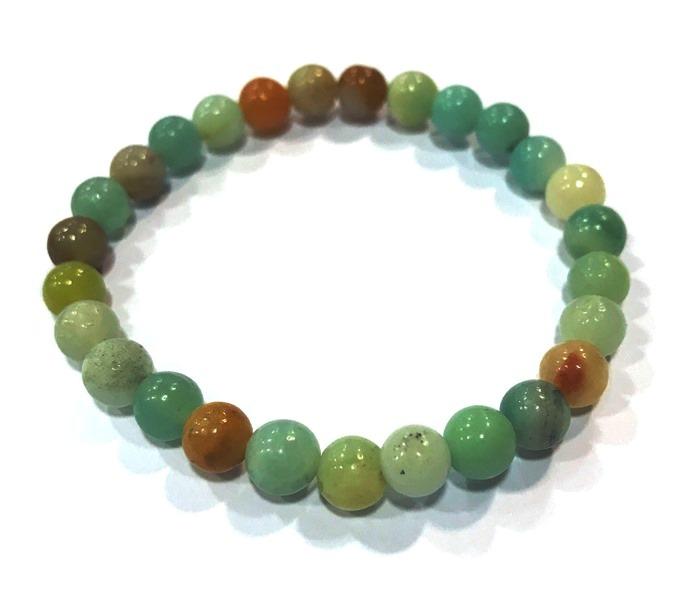 Bracelet Amazonite Perles Rondes (6 mm)