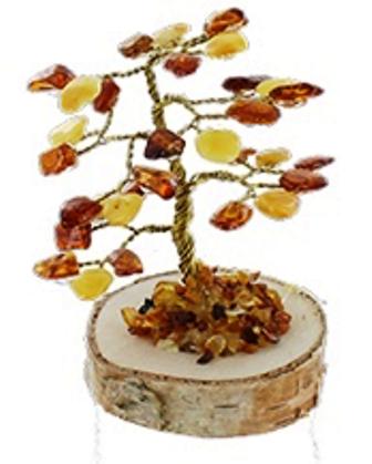 Arbre du Bonheur Ambre Bois (8 cm) (2)