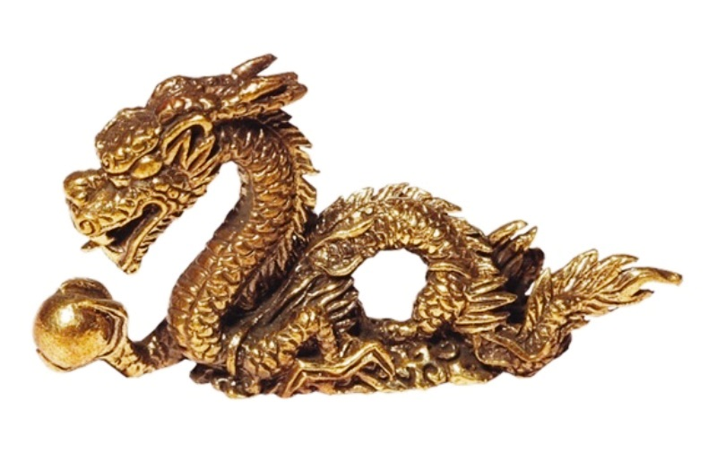 Mini Dragon Feng Shui laiton (5 cm)