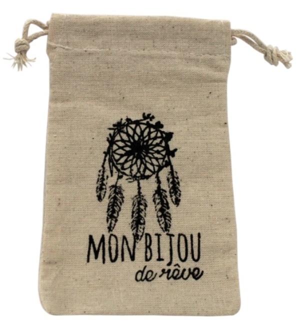 Pochette Coton Mon bijoux de Rêve