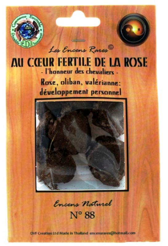 Au Coeur Fertile de la Rose - Développement Personnel - (Encens rares 25gr)
