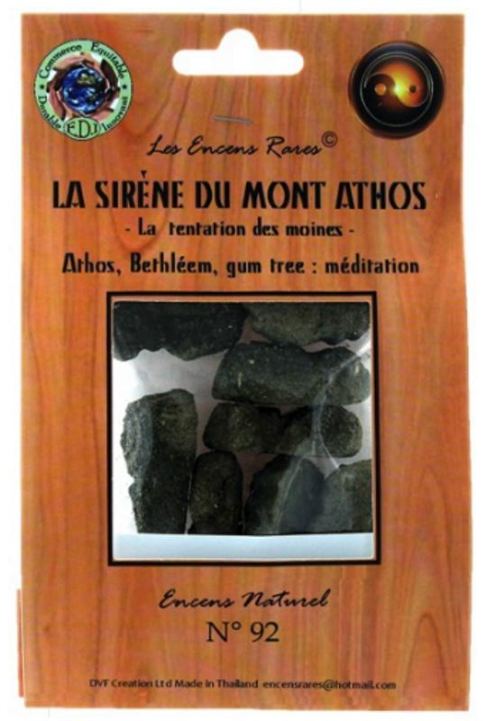 Encens La Sirène du Mont Athos - Méditation - (Encens rares 25gr)