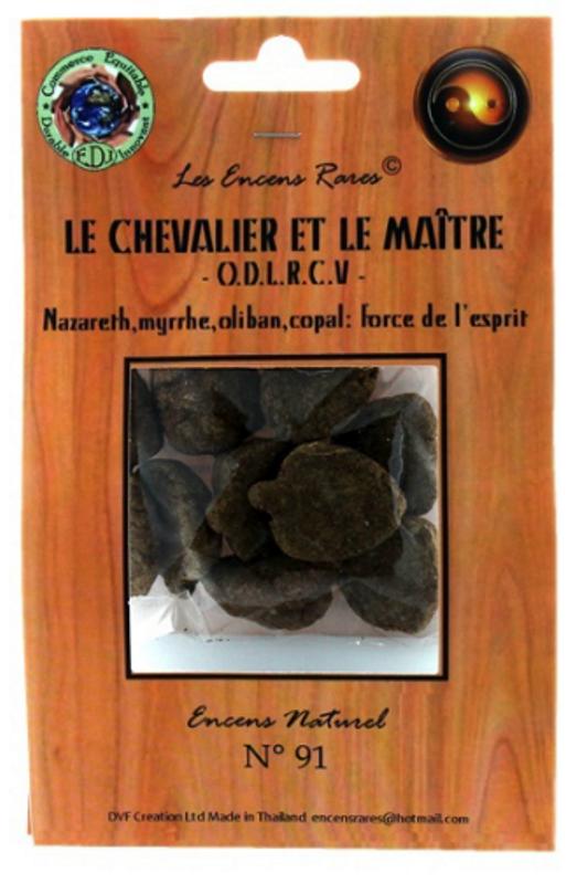 Encens Le Chevalier et le Maître - Force de l\'Esprit - (Encens rares 25gr)