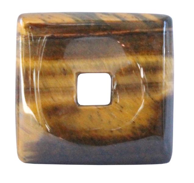 Pi Chinois Carré Oeil de Tigre (3 cm)