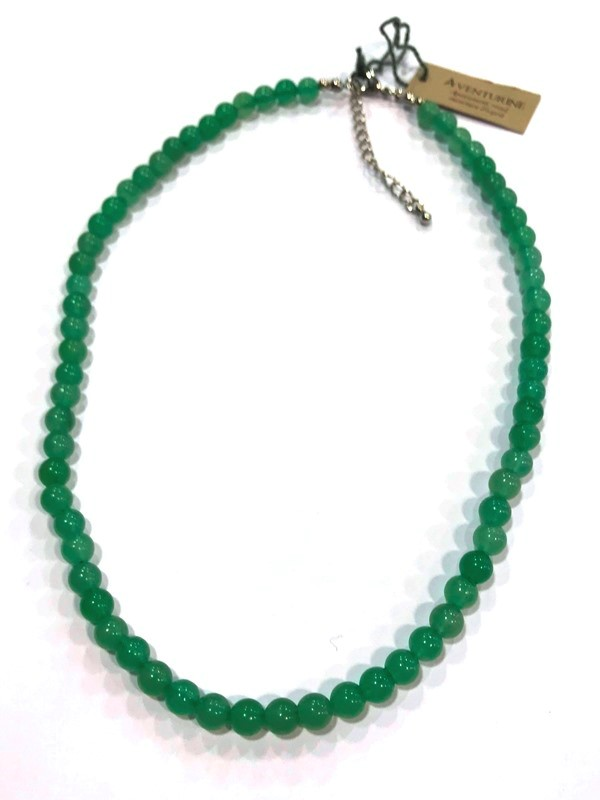 Collier Aventurine - perles 6 mm (2)