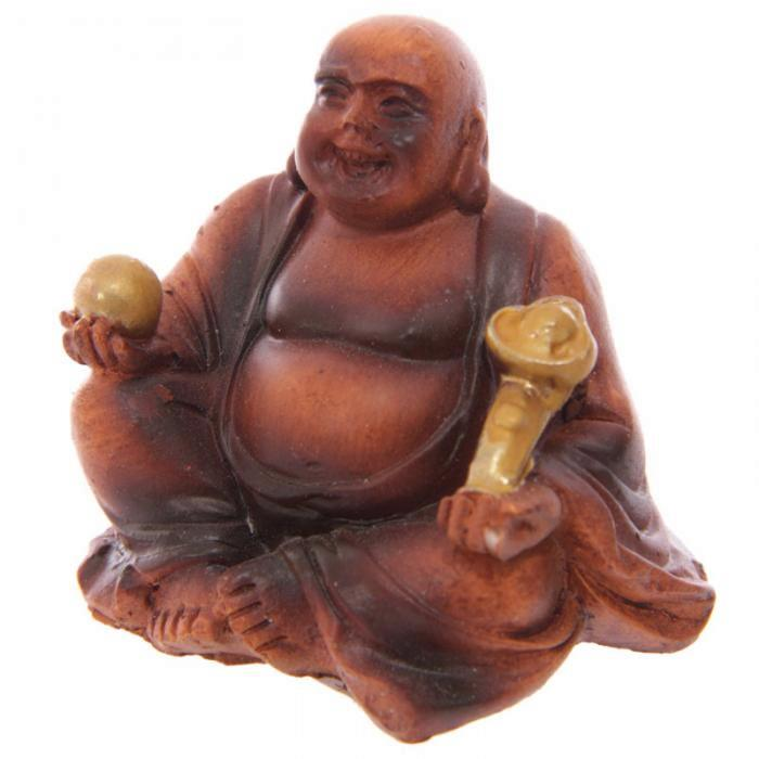 mini bouddha porte bonheur lot de 2 statuettes bouddhas. Black Bedroom Furniture Sets. Home Design Ideas