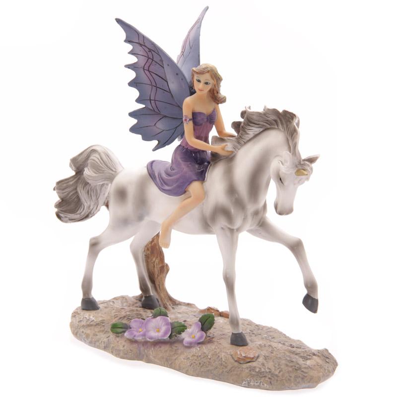 Contes de fées Lisa Parker  Fée chevauchant Licorne