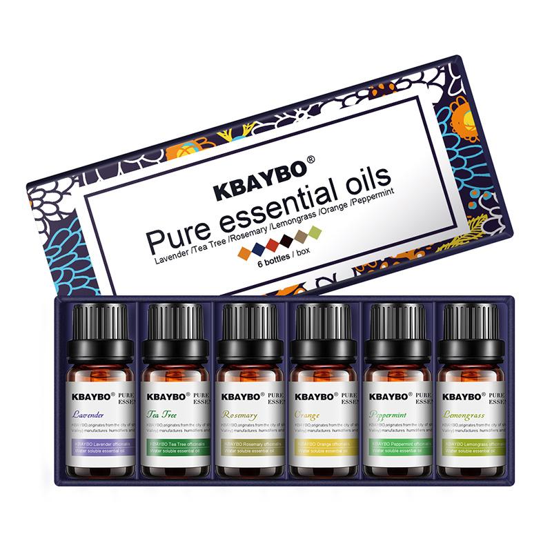 Huiles essentielles pour Diffuseur, aromathérapie (lot de 6)