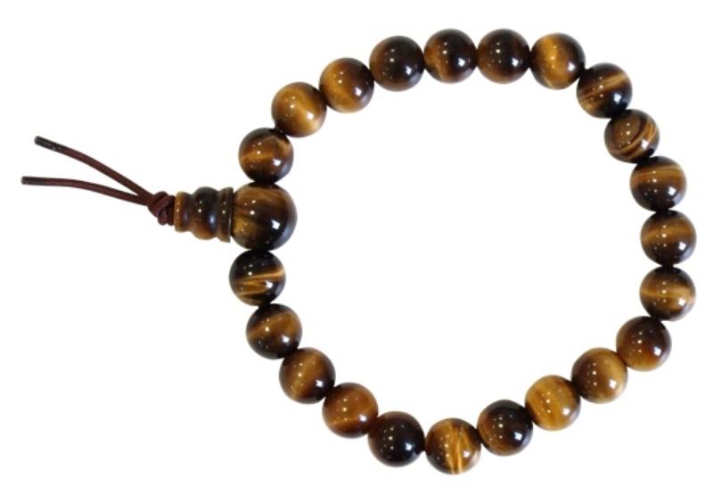 Bracelet Mala Oeil de Tigre (perles de 8 mm)