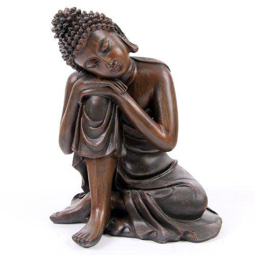 Bouddha Thaï - Marron Tête sur Genou Droit (B)