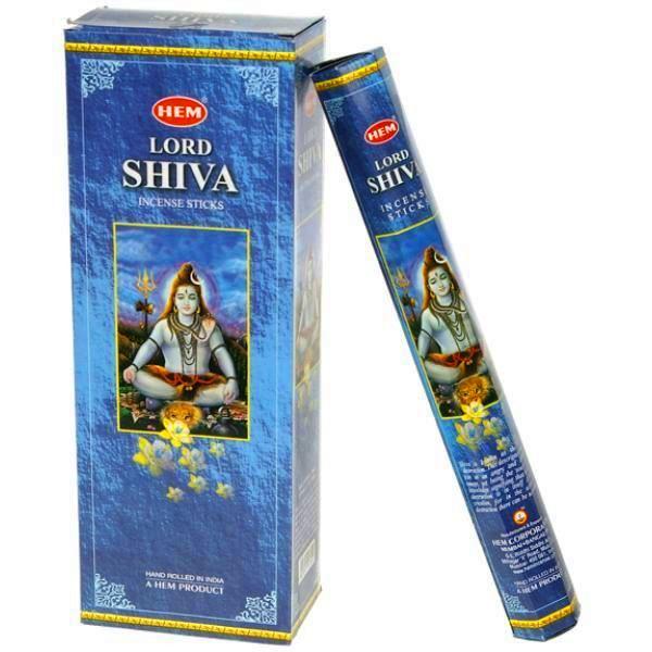 Encens Lord Shiva lot de 6 boîtes
