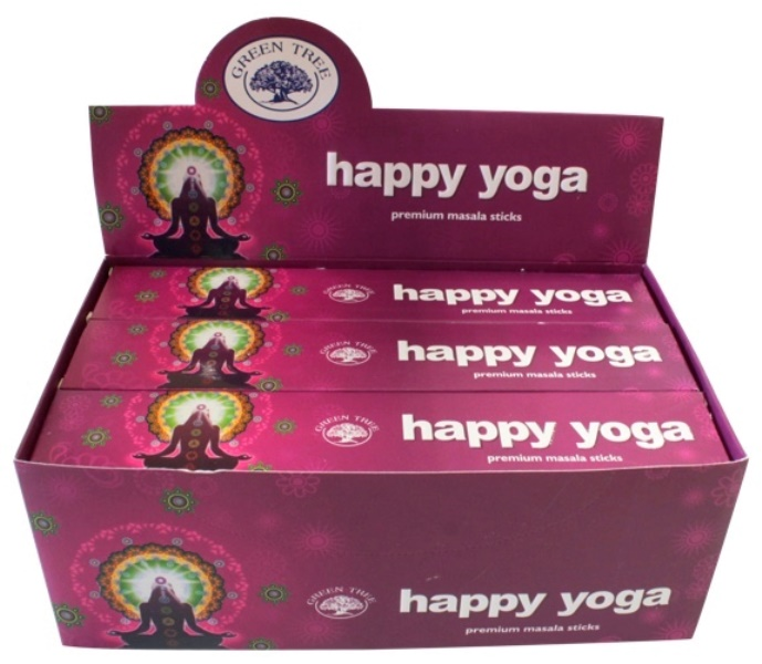 Encens Happy Yoga lot de 12 boîtes