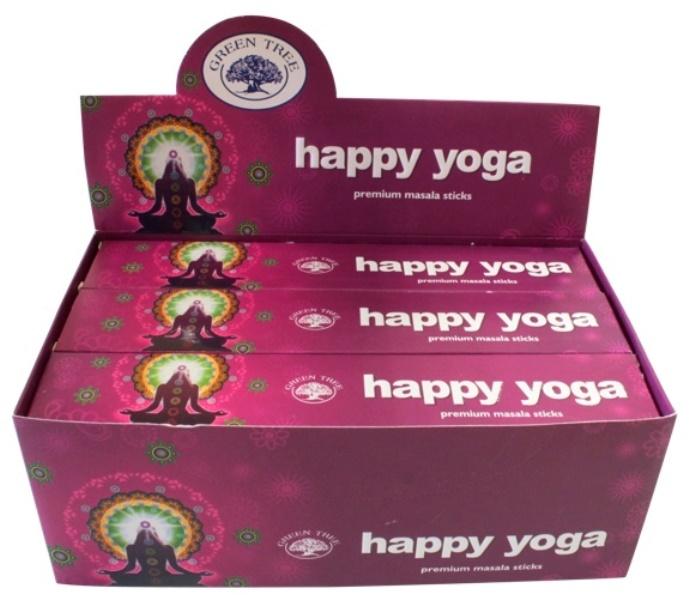 Encens Happy Yoga lot de 12 boîtes