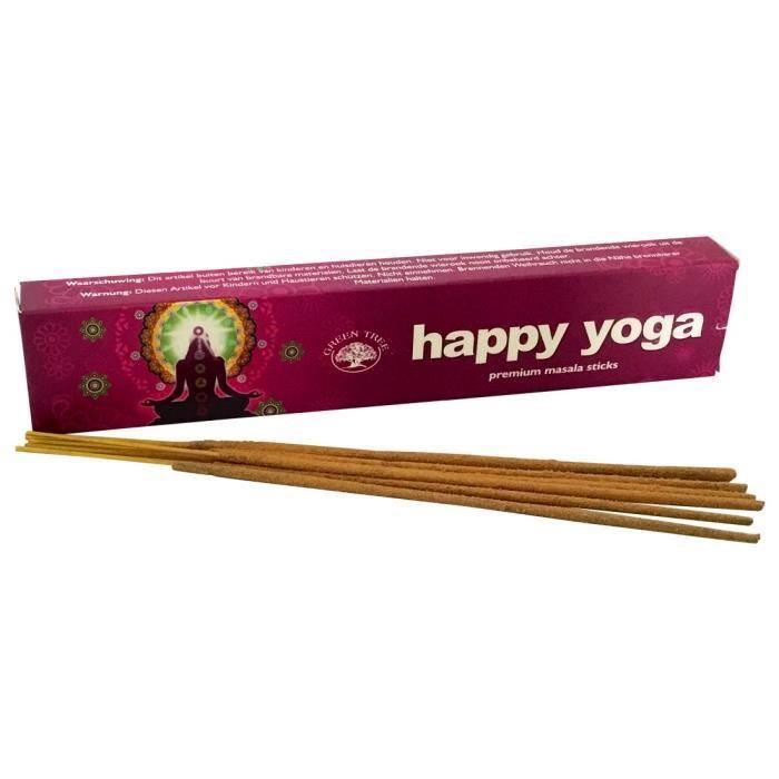Encens Happy Yoga boîte de 15 bâtonnets