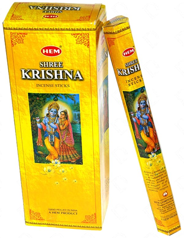 Encens Shree Krishna lot de 6 boîtes