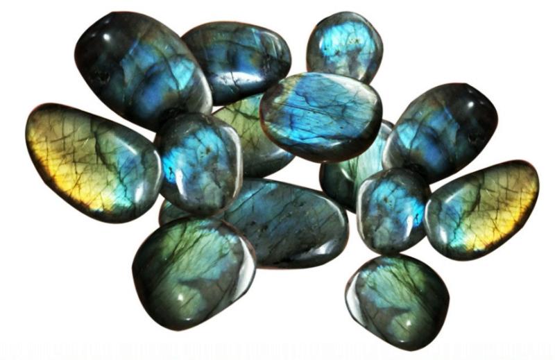 Labradorite Galets Pierres Amulettes (3 à 5 cm) lot de 5 pièces