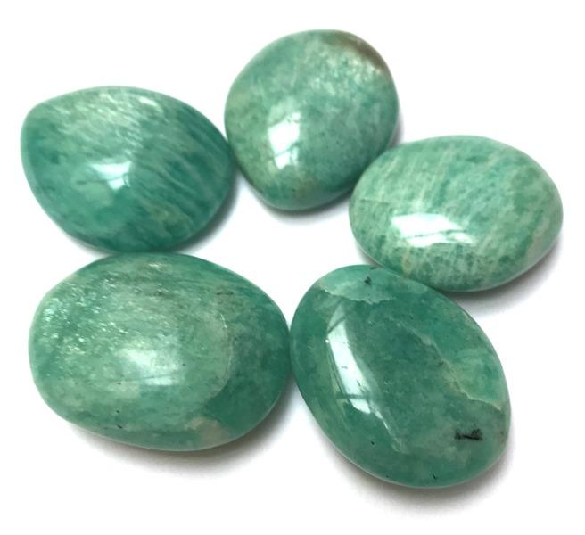 Amazonite Galets Pierres Amulettes (3 à 5 cm) lot de 5