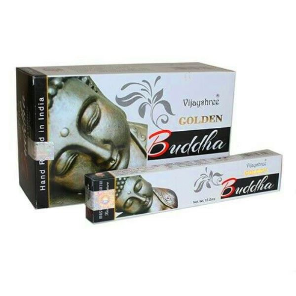 Encens Golden Bouddha Vijayshree (lot de 12 boîtes)