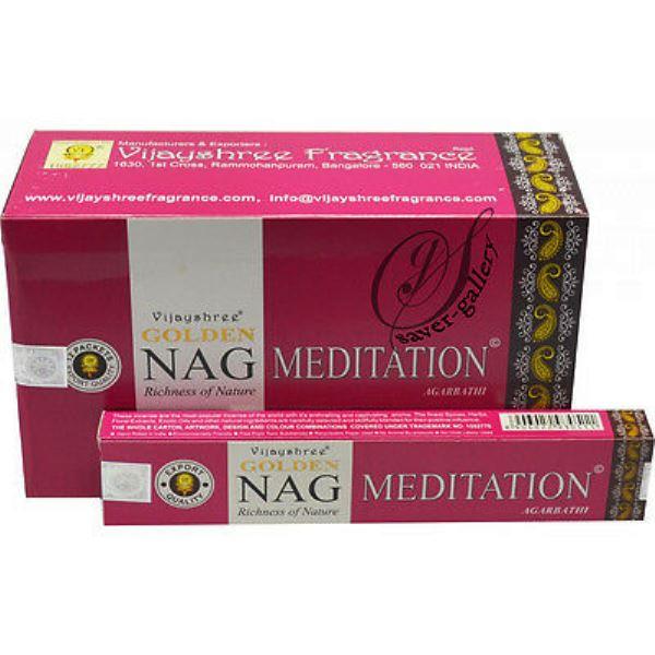 Encens Golden Méditation Vijayshree (lot de 12 boîtes)
