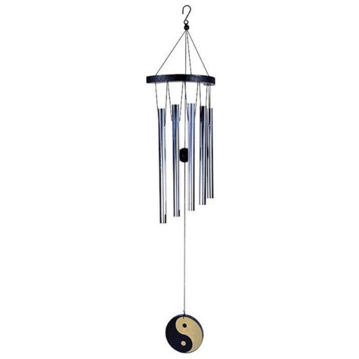 Carillon à vent 5 tubes Ying Yang (70 cm)
