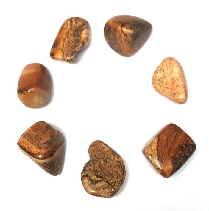 Jaspe Paysage pierre Roulée (2,5 cm)