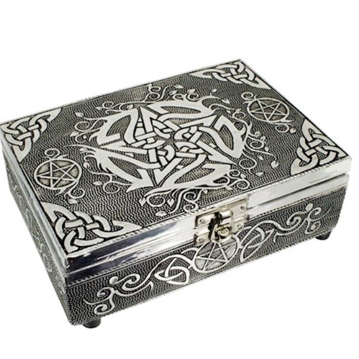 Boîte à Tarot Pentacle Aluminium (18x13 cm)
