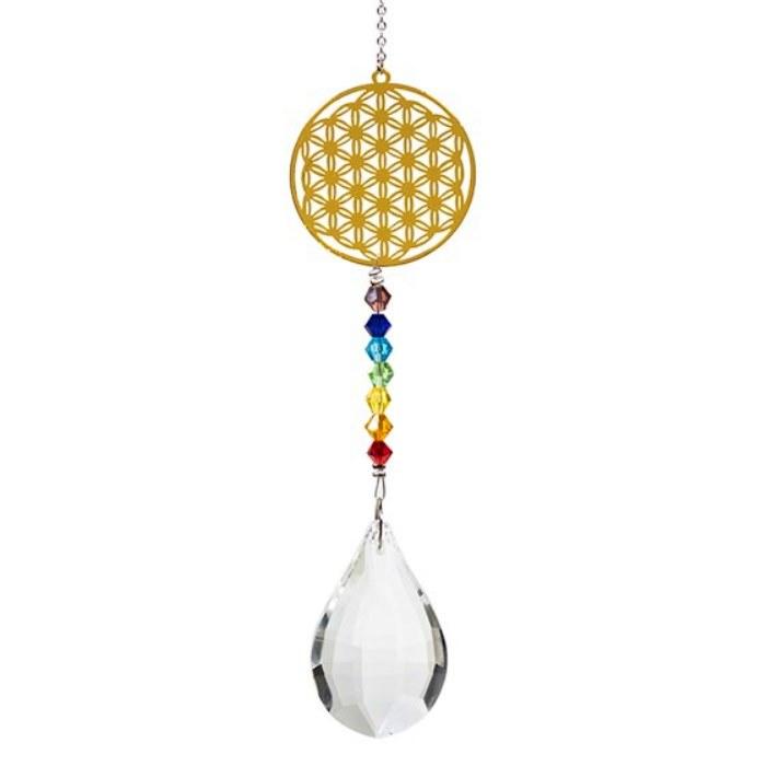 Suspension Chakra Fleur de Vie Cristal