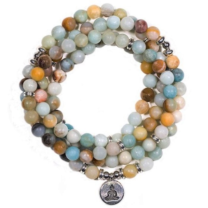 Collier Mala en Amazonite 108 perles | 8mm