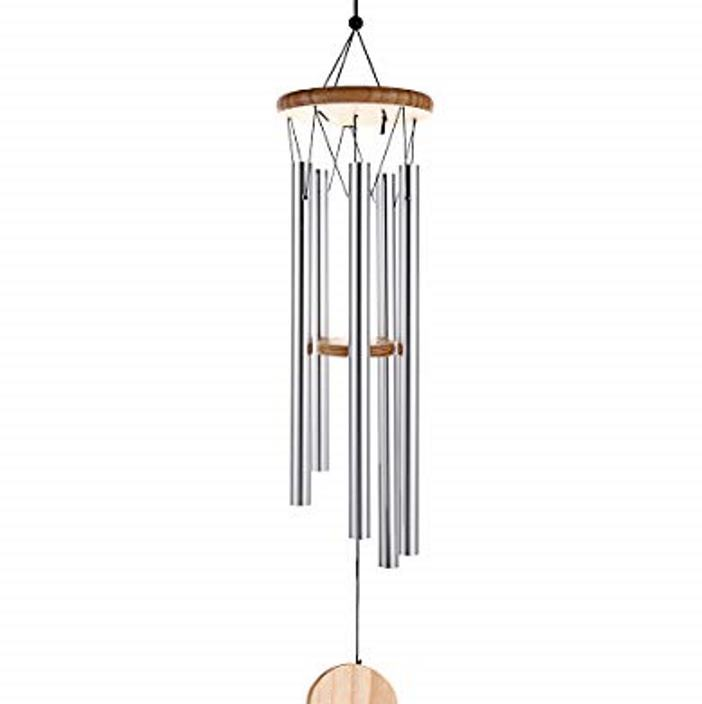Carillon à vent 5 tubes bois naturel (54 cm)