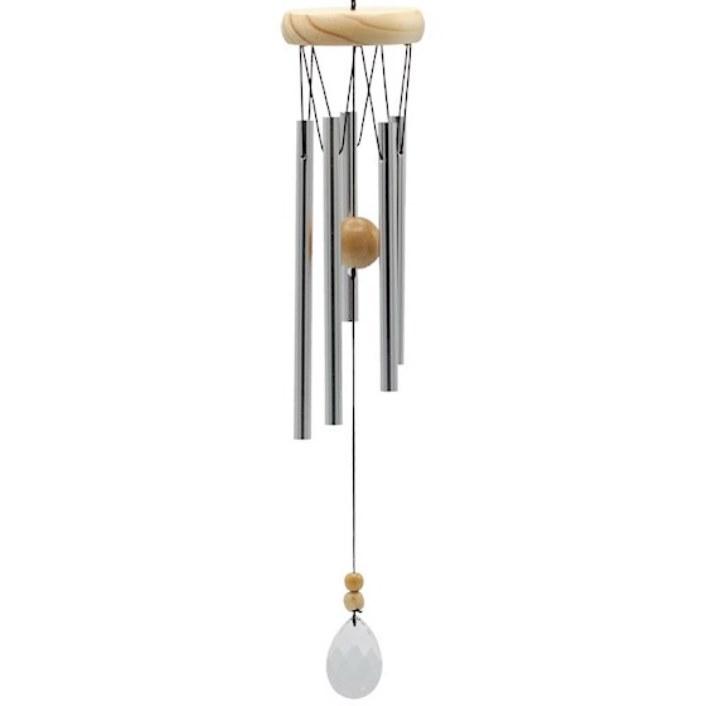 Carillon à vent 5 tubes bois et Cristal (48 cm)
