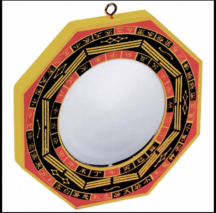 Miroir Feng Shui Bagua concave (13 cm)