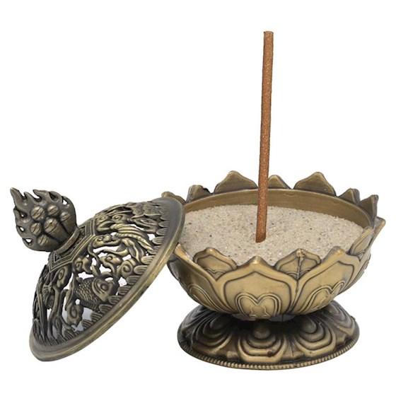 Brûle encens Lotus couleur bronze