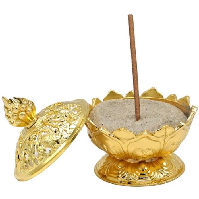 Brûle encens Lotus couleur Or