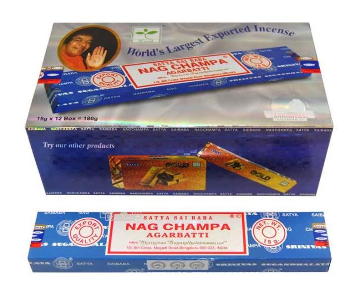 Encens Nag Champa Satya Original (lot de 12 boîtes)