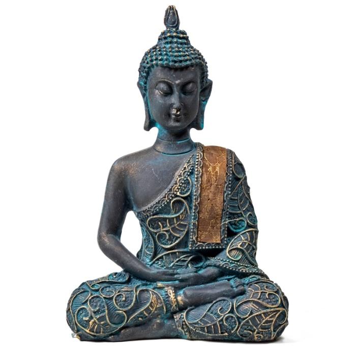 Statue Bouddha en méditation | H 15 cm