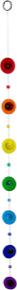 Galets de verres couleur des 7 chakras