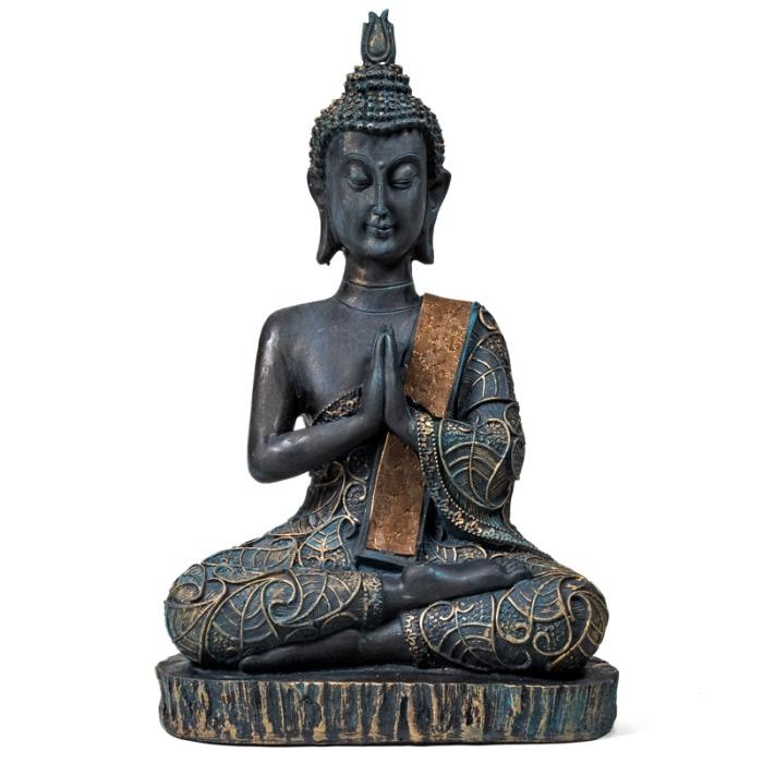 Statue Bouddha en position de prière | H 22 cm