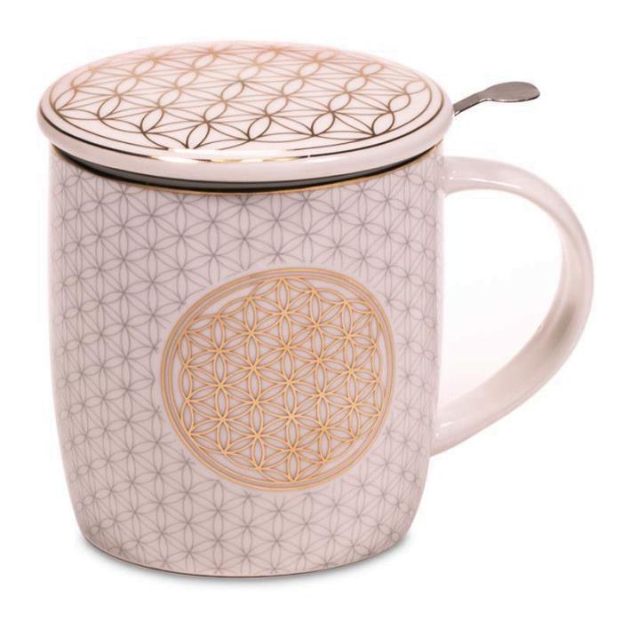 Infuseur à thé mug fleur de vie