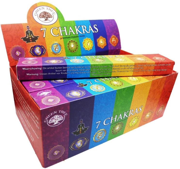 Encens Green Tree - 7 Chakras | Lot de 12 Boites
