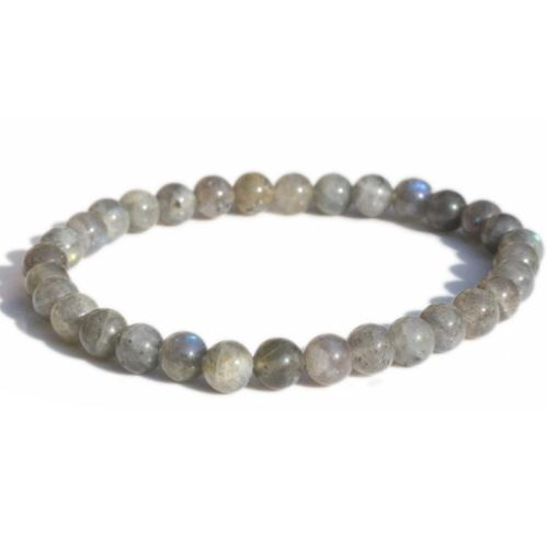 Bracelet Labradorite Perles Rondes (6 mm)