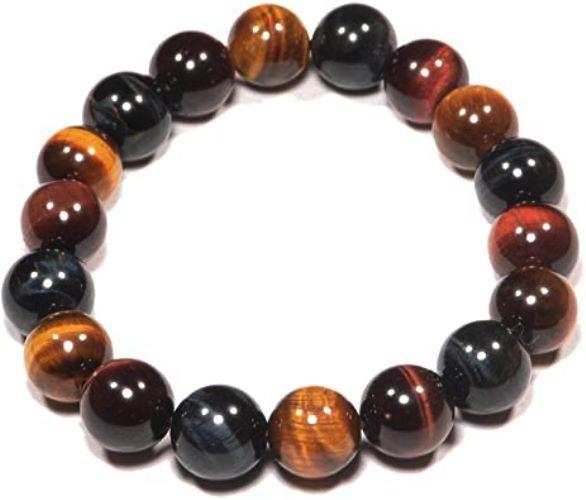 Bracelet Oeil de Tigre, Faucon et Taureau | Perles de 8mm