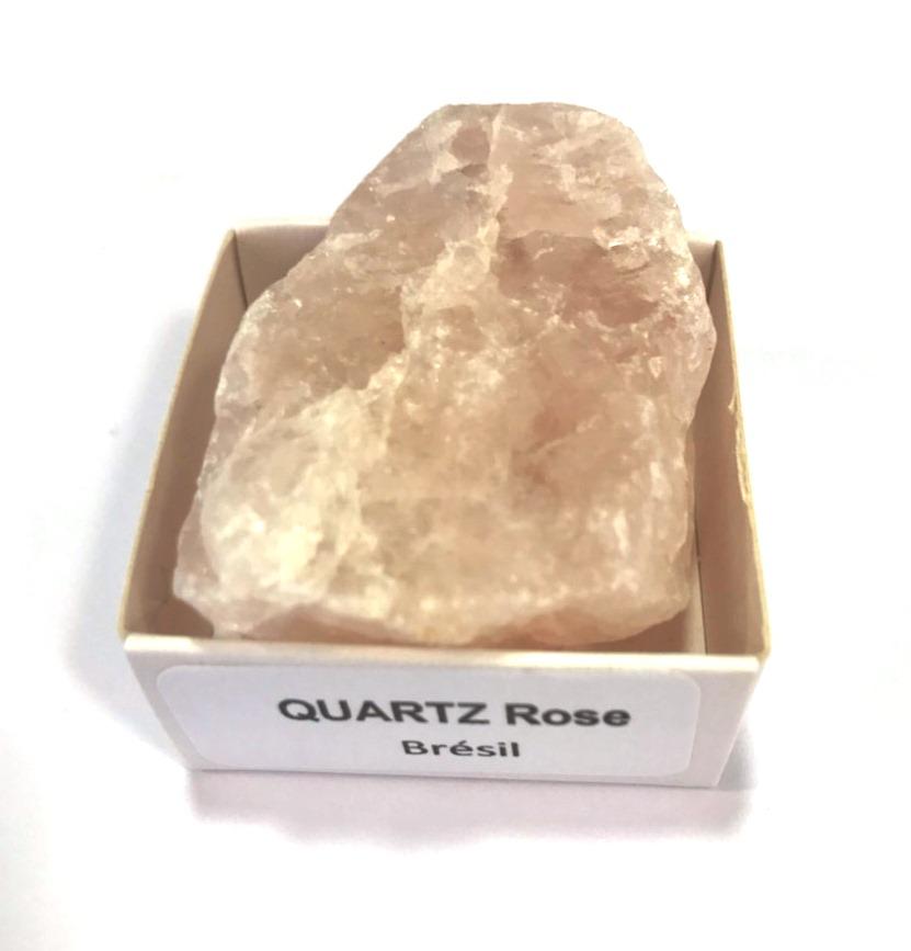 Quartz rose Brute du Brésil | 3 x 4 cm