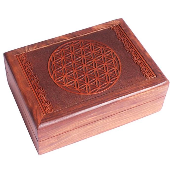Boîte de tarots motif fleur de vie | 17,5 x 13 cm